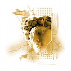 David statue white...