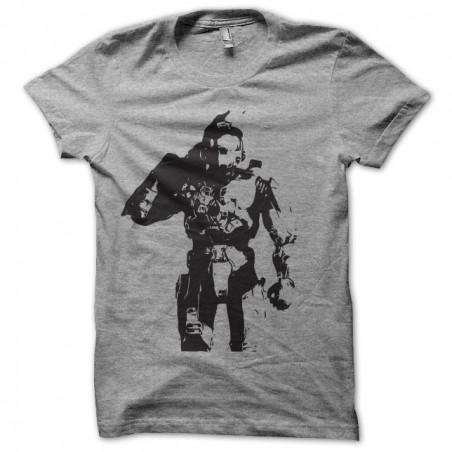 Tee shirt halo Spartan John117 gris sublimation