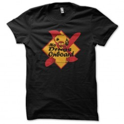 T-shirt panel No drugs on board black sublimation