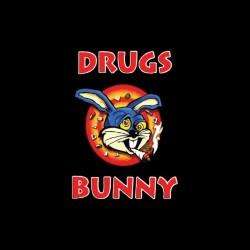 T-shirt drugs parody Bugs Bunny black sublimation