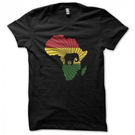 T-shirt africa unit black sublimation