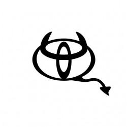 Toyota devil parody white...