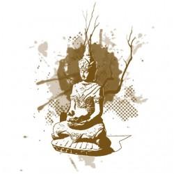 Tee shirt Buddha artistique...
