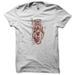 African mask t-shirt white sublimation