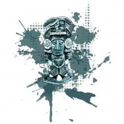 Tee shirt Maya statuette...