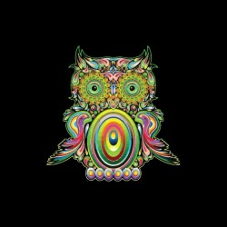 Funny psychedelic black...