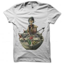 2D t-shirt gorillaz on boat white sublimation