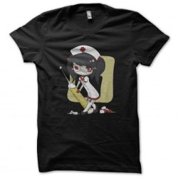 Sexy black nurse sublimation t-shirt