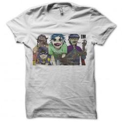 tee shirt gorillazequipe white sublimation