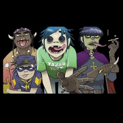 tee shirt gorillaz team...