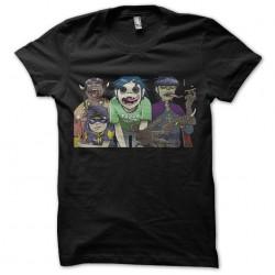tee shirt gorillaz team black sublimation