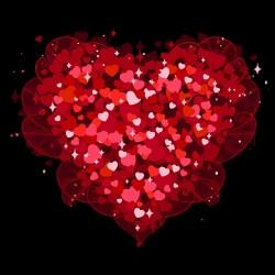 shirt love hearts miltiples...