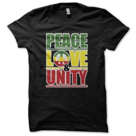 Peace love unity black sublimation t-shirt