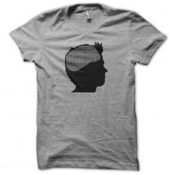 Johnny Mnemonic digital brain sublimation gray t-shirt