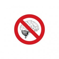 Idiocracy banned brain white sublimation t-shirt