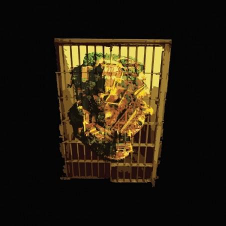 Alcatraz island in cell black sublimation t-shirt