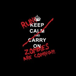 Keep Calm parody zombies t-shirt black sublimation
