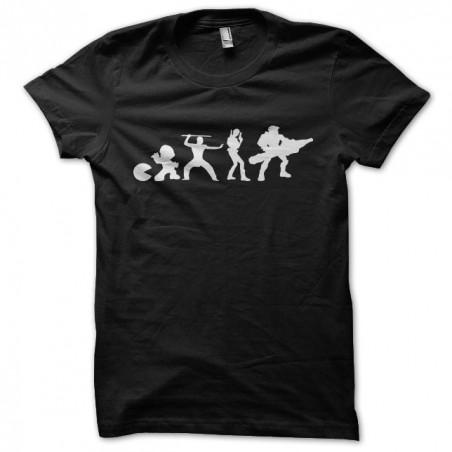 Video Game Evolution black sublimation t-shirt