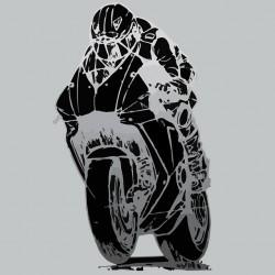 T-shirt racing motorcycle gray sublimation