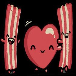Tee Shirt love bacon...
