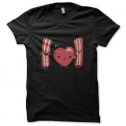 Shirt love black bacon sublimation
