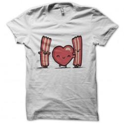 T-Shirt i love bacon white sublimation