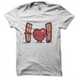 Tee Shirt i love bacon  sublimation