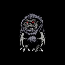 Poster Critters t-shirt in black sublimation