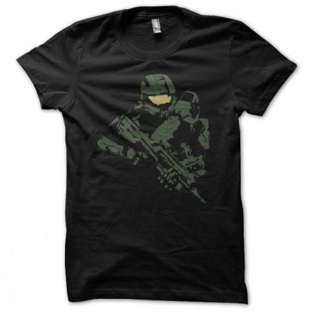 Halo artwork black sublimation t-shirt