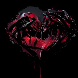Tee Shirt heart of black...