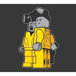 tee shirt Breaking bad lego gris sublimation