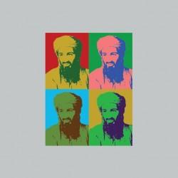 Tee shirt Ben Laden pop art...