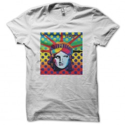 T-shirt Statue of Liberty pop art white sublimation