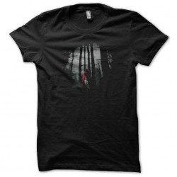 The little red chaperone black sublimation t-shirt