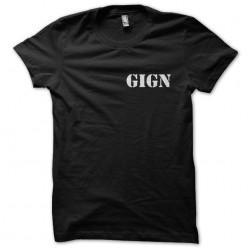 T-shirt GIGN black sublimation