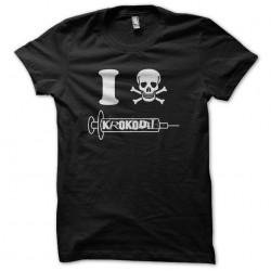 Tee shirt I love Krokodil...