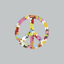 Tee shirt Peace and love en...