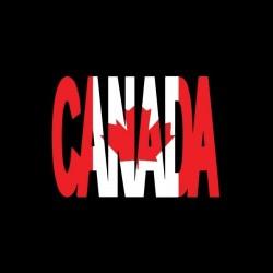 Tee shirt Canada texte...