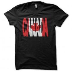 Tee shirt Canada texte drapeau  sublimation