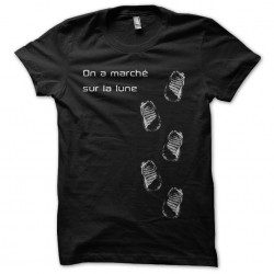 T-shirt We walked on the black moon sublimation