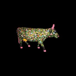 T-shirt Cow pop art flowers...