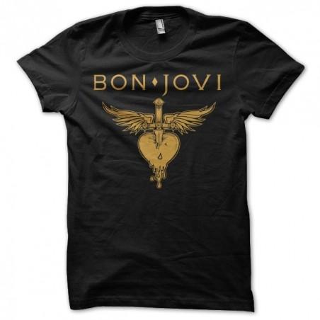 Tee shirt Bon Jovi golden  sublimation