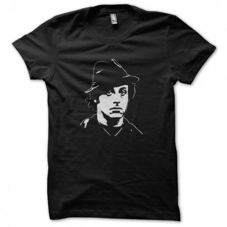 Rocky Balboa hat artwork white black sublimation t-shirt
