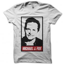 Michael J. Fox portrait Obey white sublimation t-shirt