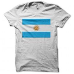 Argentina flag white sublimation t-shirt