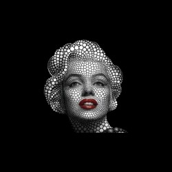 Marilyn Monroe pop art t-shirt in black dots sublimation