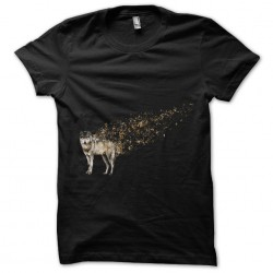 Musical Wolf Tee Shirt Black Sublimation