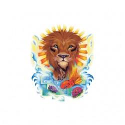 T-shirt tattoo sun lion...
