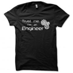 Trust me I'm an engineer black sublimation t-shirt