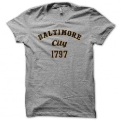 Tee shirt Baltimore city 1797 gris sublimation